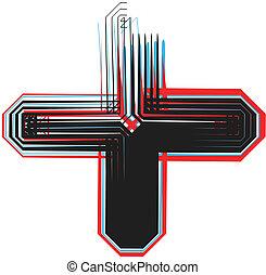 symbole, police, illustration