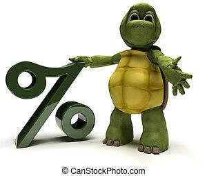 symbole, pourcentage, tortue