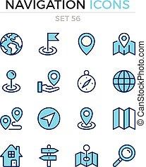 symbole, prämie, grobdarstellung, heiligenbilder, einfache , set., modern, icons., vektor, pictograms., quality., linie, design., schifffahrt, schlanke