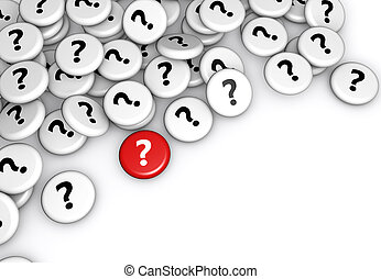 symbole, question, insignes, marque