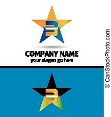 symbole, résumé, 3, nombre, logo