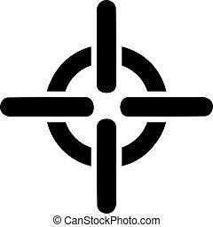 symbole, réticule