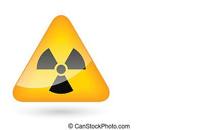 symbole, radiation, signe danger