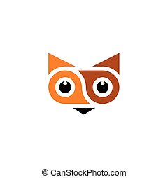 symbole, renard, illustration, vecteur, animal, logo