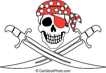symbole, roger, pirate, gai
