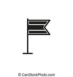 symbole, signe, drapeau, emplacement, marqueur, icon., indicateur