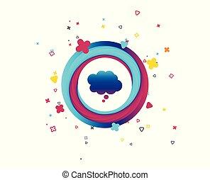 symbole., signe, parole, icon., bavarder, comique, bulle, penser