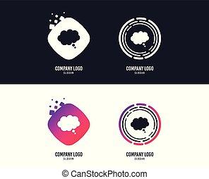 symbole., signe, vecteur, parole, icon., bavarder, comique, bulle, penser