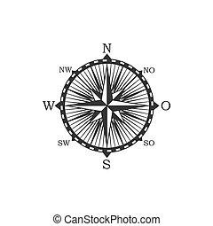 symbole, signe, vendange, compas
