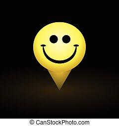 symbole, smiley, happyness, figure, jaune, icône, sourire
