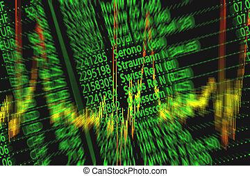 symbole, stock partage, échange