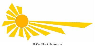 symbole, sun., clair