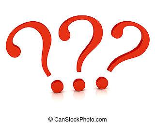 symbole, sur, question, fond blanc