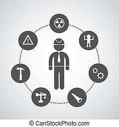 symbole, technicien