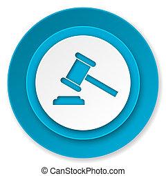 symbole, tribunal, verdict, signe, enchère, icône