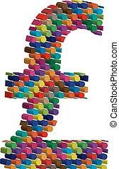 symbole, tridimensionnel, coloré