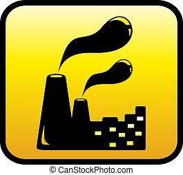 symbole, usine, icône