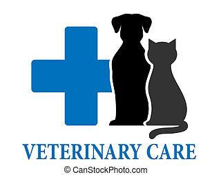 symbole, vétérinaire, soin