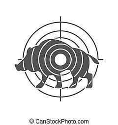 symbole, vecteur, chasse