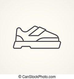 symbole, vecteur, chaussure, icône, signe