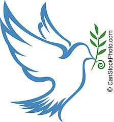 symbole, vecteur, colombe