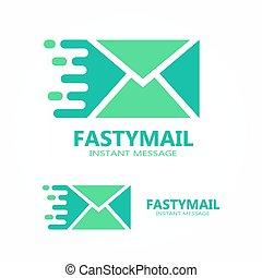 symbole, vecteur, courrier, logo, ou, icône