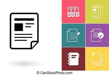 symbole, vecteur, fichier, document, ou, icône