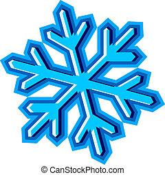 symbole, vecteur, flocon de neige