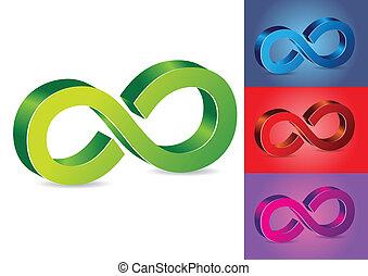 symbole, vecteur, infinité, illustration