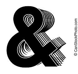 symbole, vecteur, noir