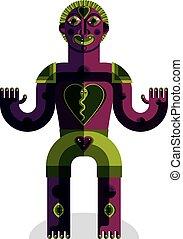 symbole, vecteur, païen, illustration