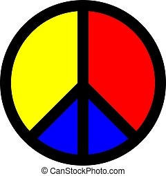 symbole, vecteur, paix, coloré, icône
