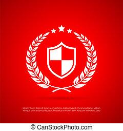 symbole, vecteur, résumé, sécurité