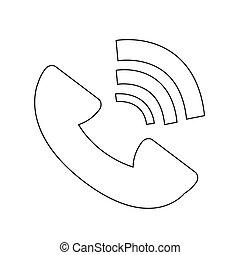 symbole, vecteur, téléphone, illustration, icône