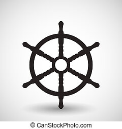 symbole, vecteur, wheel.
