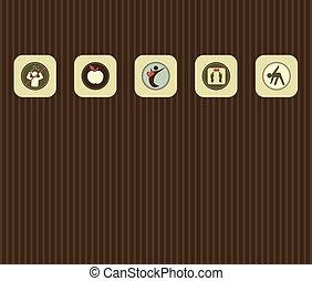 symbole, verschieden, lebensstil