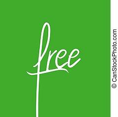 symbole, vert, message, gratuite