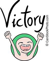 symbole, victoire