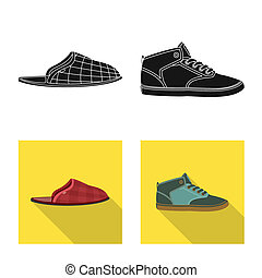 symbole, web., collection, bitmap, conception, chaussures, pied, icon., chaussure, stockage