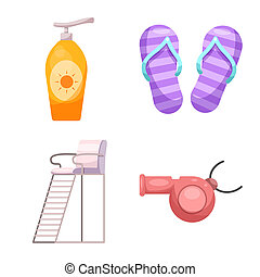 symbole, web., collection, bitmap, illustration, activité, icon., piscine, stockage