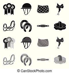 symbole, web., symbole., collection, équipement, vecteur, ...