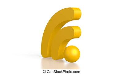 symbole, wi-fi, 3d