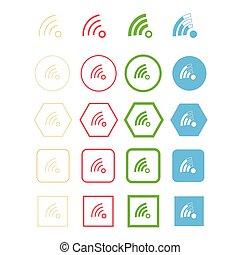 symbole, wi-fi, icône
