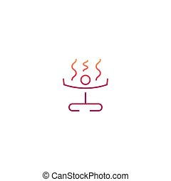 symbole, yoga, icône