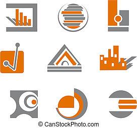 symbolen, abstract, set