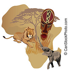 symbolen, afrika