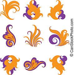 symbolen, anders, vastgesteld ontwerp, abstract