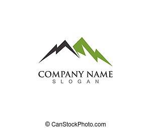 symbolen, berg, vector, mal, logo