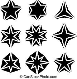symbolen, black , ster