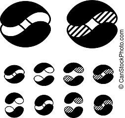 symbolen, bol, abstract, black